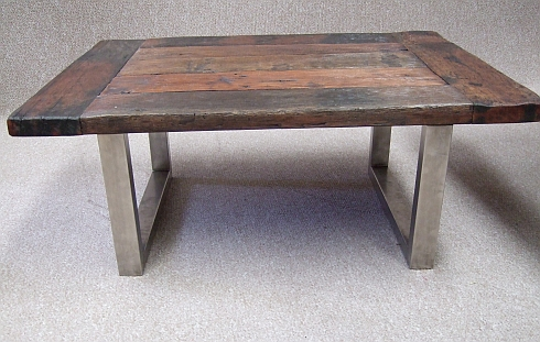 Coffee-table-rustic-contemporary-stainless-front