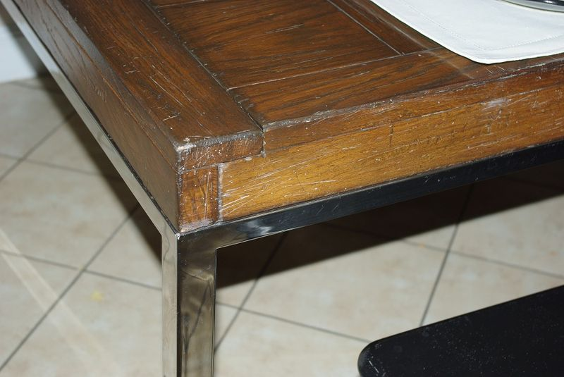 New Table - wood steel contrast