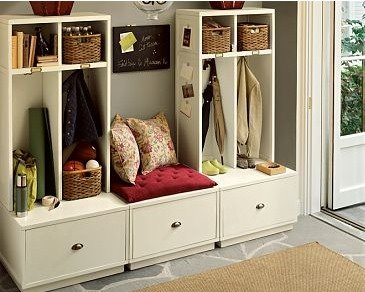 Cheap DIY Mudroom IKEA hack Entirely Smitten