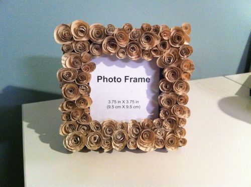 book page roses frame