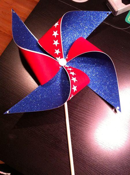 fourth of july pinwheel