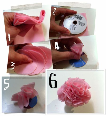 Flower pouf tutorial