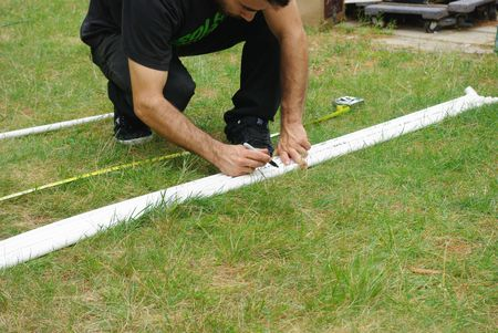 measure and mark piping