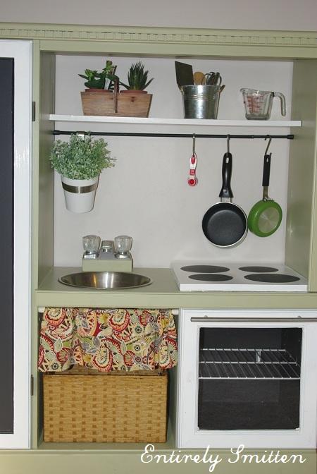 DIY Play Kitchen Set for Kids! {Hack} - Entirely Smitten
