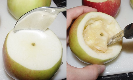 Hollow an apple