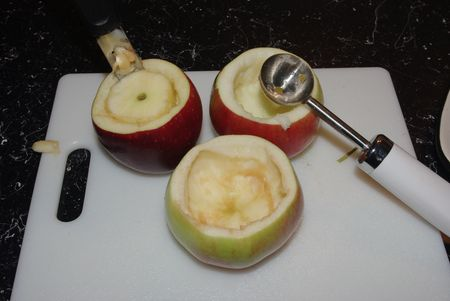 how to hollow an apple