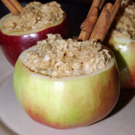 Hollowed out apple cup