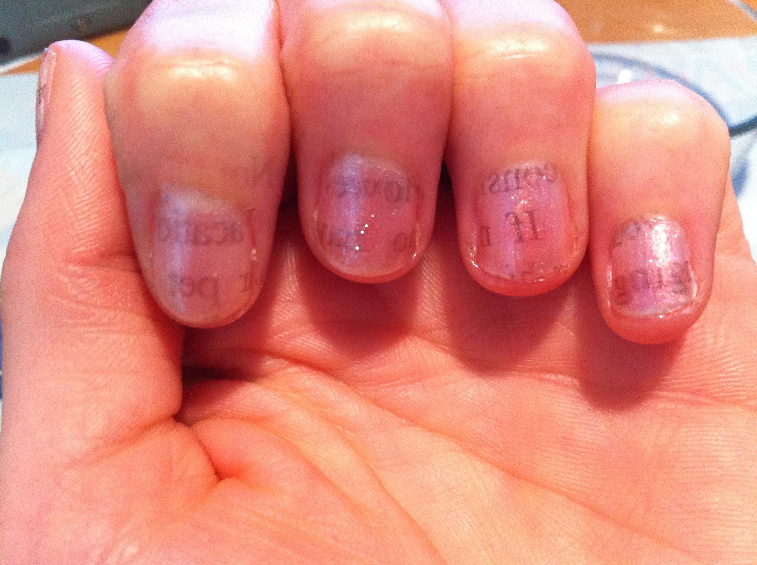 Newsprint Nails! - Entirely Smitten