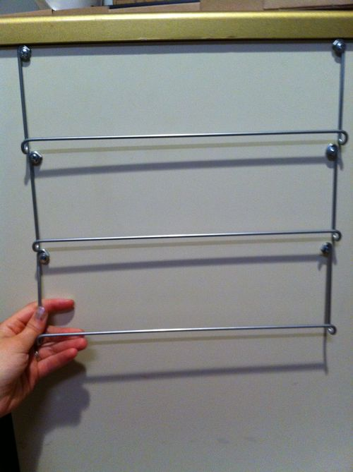 makeshift magazine rack