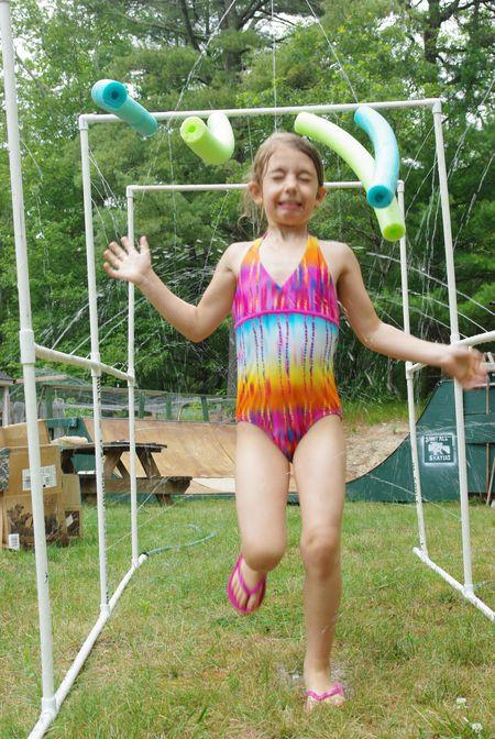 homemade sprinkler for kids