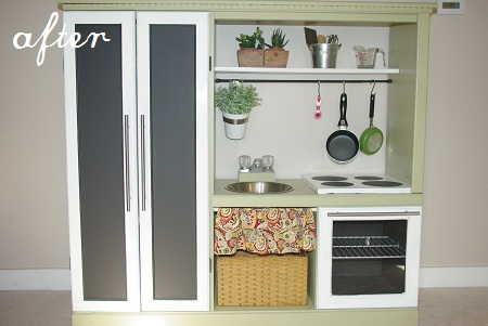 DIY kids kitchen set
