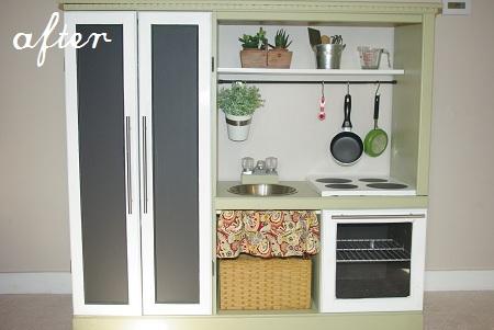 DIY kids kitchen set
