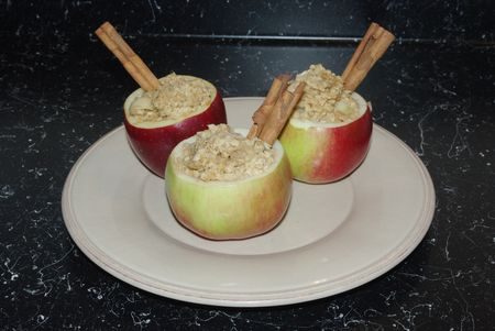 hollowed out apple cups