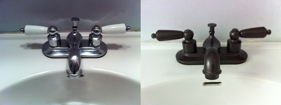 Spray Paint Faucet