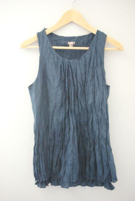 navy blue crinkle top by J.Jill