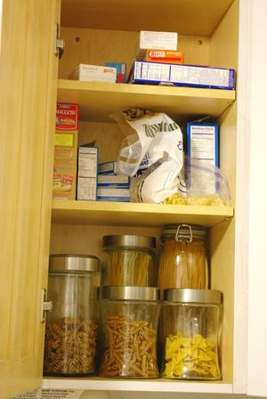 Declutter cabinets