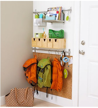 Ikea entryway organization