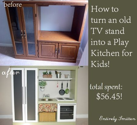 DIY Play Kitchen Set for Kids! {Hack} - Entirely Smitten