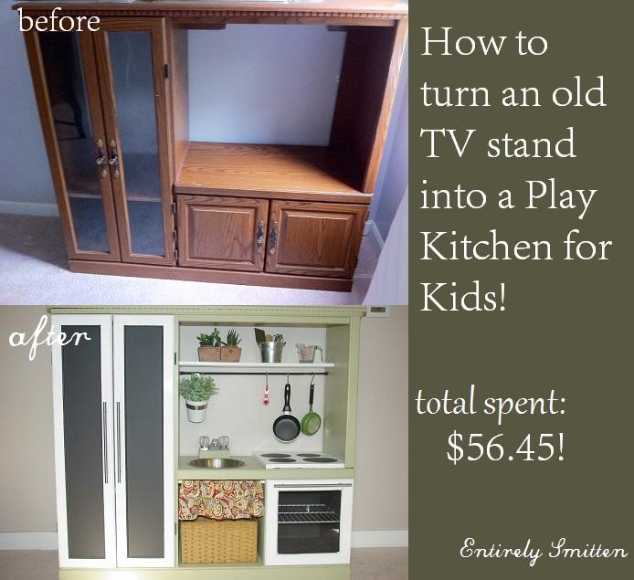 Diy Play Kitchen Set For Kids Hack Entirely Smitten
