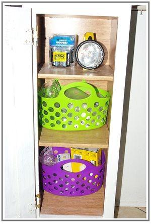 Organized utility cabinet