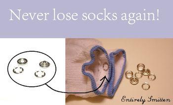 Never lose socks