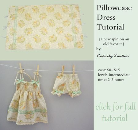 Pillowcase dress tutorial for babies