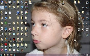 Desktop before