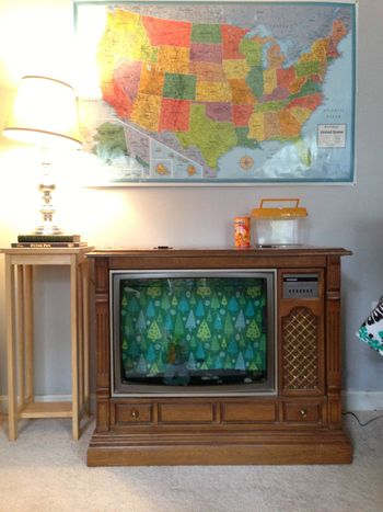Console TV to Fish Tank